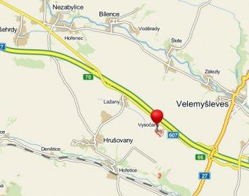 mapa polohy sv.Václava